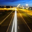 Stock Photo: Night Highway Traffic