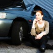 Driver With a Broken Car — Stock Photo #26954743