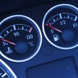 Stock Photo: Temperature and Fuel Indicators