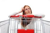 Housewife Choosing Shopping — Stock Photo