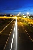 Night Highway Traffic — Stock Photo