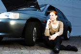 Driver With a Broken Car — Stock Photo