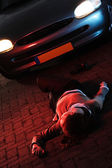 Road Accident with a Victim — Stock Photo