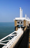 Oosterschelde Delta Works protection barrier — Stockfoto