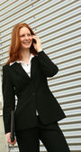 Successful businesswoman on the phone — Stock Photo