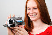Making a Home Video — Stock Photo