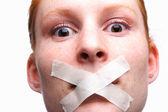 Zensiert oder zum schweigen gebracht — Stockfoto