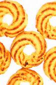 Detalhe de biscoitos de coco — Foto Stock