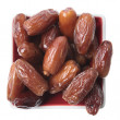 Date Deglet - Phoenix dactylifera — Stock Photo