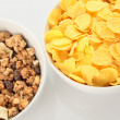 Two bowls of breakfast food — Stock Photo