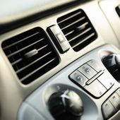Car Vents and Knobs — Stock Photo