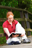 A Christian Woman with Bible — Stock Photo