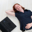 Relaxed Woman with Laptop — Stock Photo #27070395