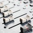 Sound Board Sliders — Stock Photo
