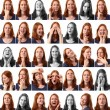 Faces - Woman Expressions — Stock Photo