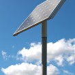 Alternative energy - solar panel on a poll — Stock Photo