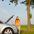 Car broken down on the road — Stock Photo