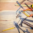 Contruction and DIY background with tools — Stock Photo