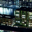 Stock Photo: Residential buildings by night