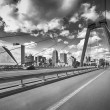 Wilemsbrug Bridge and Central Rotterdam — Stock Photo