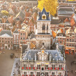 Top view of the City Hall of Delft, Holland — Stock Photo #27078239