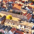 Crowded urban living - red roofs — Stock Photo