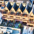 Roofs of Dutch houses in Delft — Stock Photo