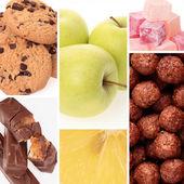 Zdrowe i niezdrowe jedzenie — Zdjęcie stockowe