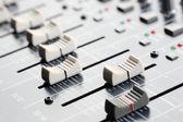 Sound Board Sliders — Stock Photo