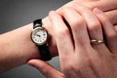 Hands and Time — Stock Photo
