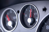 Fuel Gauge in a Car Dashboard — Stock Photo