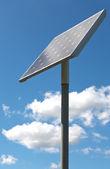 Alternative energy - solar panel on a poll — ストック写真