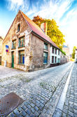 Morning on an empty street in Europe — Stock Photo