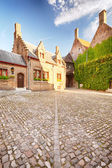 An empty back yard in Bruges, Belgium — Stock Photo