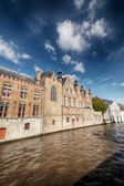 Water canal and old European buildings — Stock Photo
