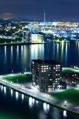 夜、オランダのロッテルダム — ストック写真