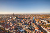 Aerial view of Delft, the Netherlands — Stock Photo