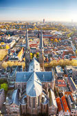 The old European town of Delft, Holland — Stockfoto