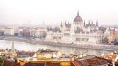 Венгерский парламент, здание в Будапеште — Стоковое фото