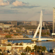 Erasmus Bridge and Central Rotterdam — Stock Photo