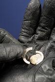 Money theft or robbery — Stock Photo