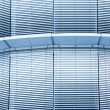 Closed metal blinds of an office building — Stock Photo