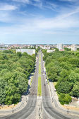 The City of Berlin seen from the Victory Column monument — Stock Photo