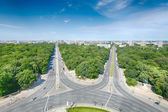 West Berlin as seen from the Victory Column — Stock Photo