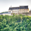 The historic Vianden Castle, Luxembourg — Stock fotografie