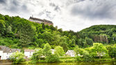 The Vianden Castle and part of the city below it — Stock Photo