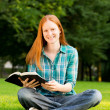 Young Christian Woman with a Bible — Stock Photo
