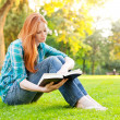 A Young Woman with a Book — Stock Photo