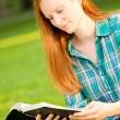 A Woman Reading a Bible — Stock Photo