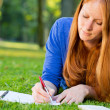 Stock Photo: Woman Studying in a Park